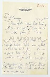Jacqueline Kennedy Hand-written 1963 Letter Dr. Travell Inaugural Poetry Book
