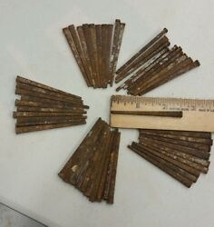 50 Antique 2 1 2 inch square cut nails hand made unused straight but rusty.