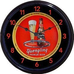 Yuengling Black Label Pottsville Pa Beer Tray Wall Clock Dg Yeungling And Sons 10