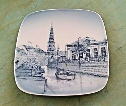 Vintage Plate Porcelain B And G Denmark Square Small Hangs Thorvaldsens Museum No.