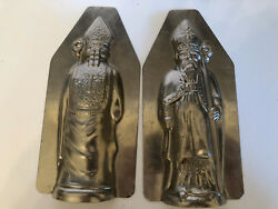 Antique Vintage St. Nicholas - Old World Santa Chocolate Mold. French Mafter