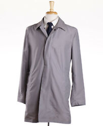 Nwt 5690 Kiton Lightweight Wool-mohair Outer Jacket M Eu 50 Leather Details