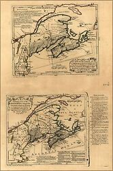 Poster, Many Sizes Map Of English Land In New England Maine 1768