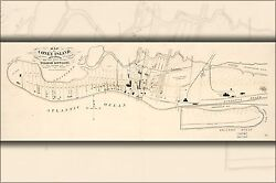 Poster, Many Sizes Map Of Coney Island, Gravesend, New York 1879