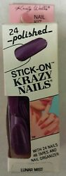 Vintage Stick - On Nail Kit Pack Of 24 Krazy Nails Unique Old Items Nice