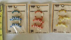 Vintage Ponytail Holders Nice Lot Of 6 Unique Old Hard To Find Retro Items