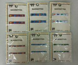 Vintage Kids Barrettes Metal Stay Tight Unique Old Hard To Find Items Nice