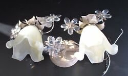 Elk Decorative 2-light Floral Wall Sconce With Florets Hand Blown Glass Shades