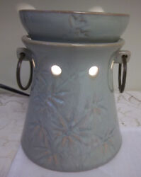 Scentsy Electric Bamboo Full Size Tali Wax Melt Bar Essential Oil Warmer Retired