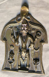 Indian Antiques Vintage Old Brass India Religious Figurines God Statue 03