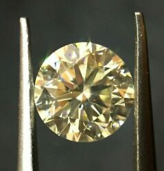 Igi Certified O-p Natural Round Diamond 1.12ct Excellent Cut With Great Fire