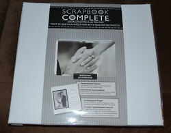 New Tapestry 12 x 12 Scrapbook COMPLETE Album 16 Pre-Made Designed Pages WEDDING