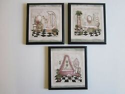 Bathroom Wall Decor Plaques Pictures French Cottage Bath Tubs, Pink Green