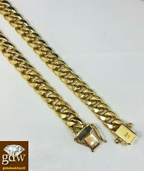10k Yellow Gold Miami Cuban Bracelet 7mm 9 Inch Box Lock Strong Real Gold