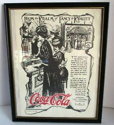 Vtg Coca Cola Print Fancy Old Fashioned Ladies Theater May 1907 Coke 5 Cents