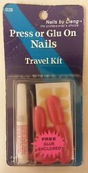 Vintage Press - On / Glue-on Nails Pack Of 20 Unique Old Retro Items Nice