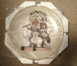 Norman Rockwell Gorham China - 1984 Christmas Medley Collector Plate Coa 2026