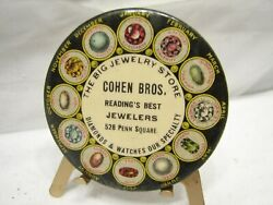 Antique Reading Pa Advertising Pocket Mirror Ad Cohen Bros. Jewelers Penn Square