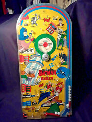 1966 Batman Marx Pinball Large Game Complete W/wire Stand-paddle/plunger Intact