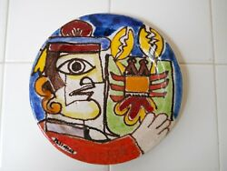 Lobster Fisherman Giovanni Desimone Plate Caltanisetta Italy Old Picasso Signed