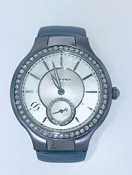 Philip Stein Classic Round White Dial Watch Mother Of Pearl, Diamonds, Slate