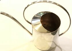 Antique Early Mid Century Plant Flower Orchid Silver Watering Can Spout Denmark
