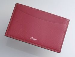 H1381M Authentic Cartier Genuine Leather Business & Credit Card Case *Good