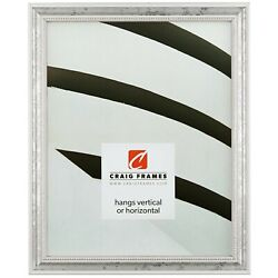 Craig Frames .75 Wide Beaded Antique White Wood Picture Frames And Poster Frames