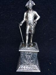 Silver Sterling Figure King Frederick William Iii Of Prussia With Embossed Base