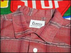 Woven Pattern Good Design Cotton Check Shirts Made in USA Campus Vintage Y14B