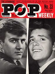 Pop Weekly Magazine 11 April 1964  The Beatles  Patsy Ann Noble  The Hollies