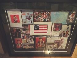 Cammi Granato Ice Hockey Collage/1998 Olympic Gold Medal Game Nagano Signed 5x