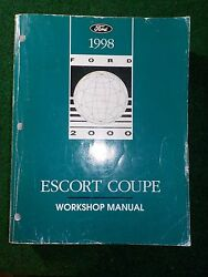 1998 Ford Escort Coupe Service Repair Shop Manual DEALER FACTORY