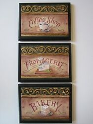 Bakery Fromagerie Coffee Cheese Shop Plaques French Kitchen Wall Decor Pictures