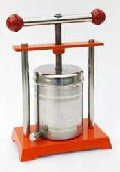 Tincture Press Stainless Steel Fruit Wine Juice Cheese Making Heavy Duty Us Ship