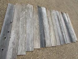 48 Weathered Barn Wood  8 Fence Boards  Reclaimed Old Wood Board Planks