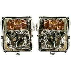 Driving Fog Light Lamp Assembly Pair Set (Driver & Passenger Side Qty 2)