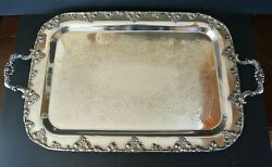 1883 Fb Rogers Silverplate 24 Serving Tray 8719 Grape Design