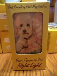 White Poodle Night Light By Ruth Maystead - Boxed