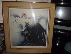ORIG. CUSTOM FRAMED LOUIS ICART 1938 WALTZ ECHOES HAND SIGNED DATED PICTURE
