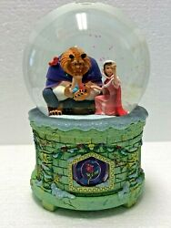 New Disney Musical Snowglobe - Belle And Beast From Beauty And The Beast