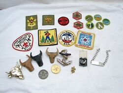 Lot 1960s Boy Scout Patches Camporee Lebanon Pa Ring Bsa Merit Badge Slider