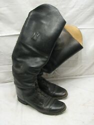 Vintage Effingham Black Riding Boots Horse Equestrian Motorcycle Style 2001 Sz 8