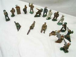 Lot 18 Manoil/barclay Wwi Lead Toy Soldiers Gunner Grenade Gas Mask Doctor