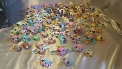 Littlest pet shop lot of 75 cats dogs rare   numbers # C- fish cat dog bunny