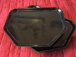 Lot Of 100 Cambro Camtray 6 Sided Cafeteria Lunch Docking Tray, 18x14, Black
