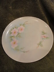 Bavaria Hutschenreuther Plate Hand Painted Signed Floral 8 In Vintage