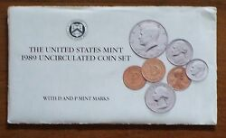 1989 Us Mint Uncirculated Coin Set D And P Mint Marks The Last One