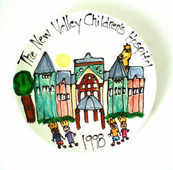 Childrens Hospital Original Collectible Signed Art Plate Central California