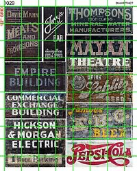 1029 Dave's Decals Bar Theater Meats Beer Old Building Ghost Signs Advertising